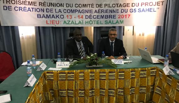 Troisième Réunion du comité de Pilotage du Projet de Création de la Compagnie Aérienne du G5 Sahel.